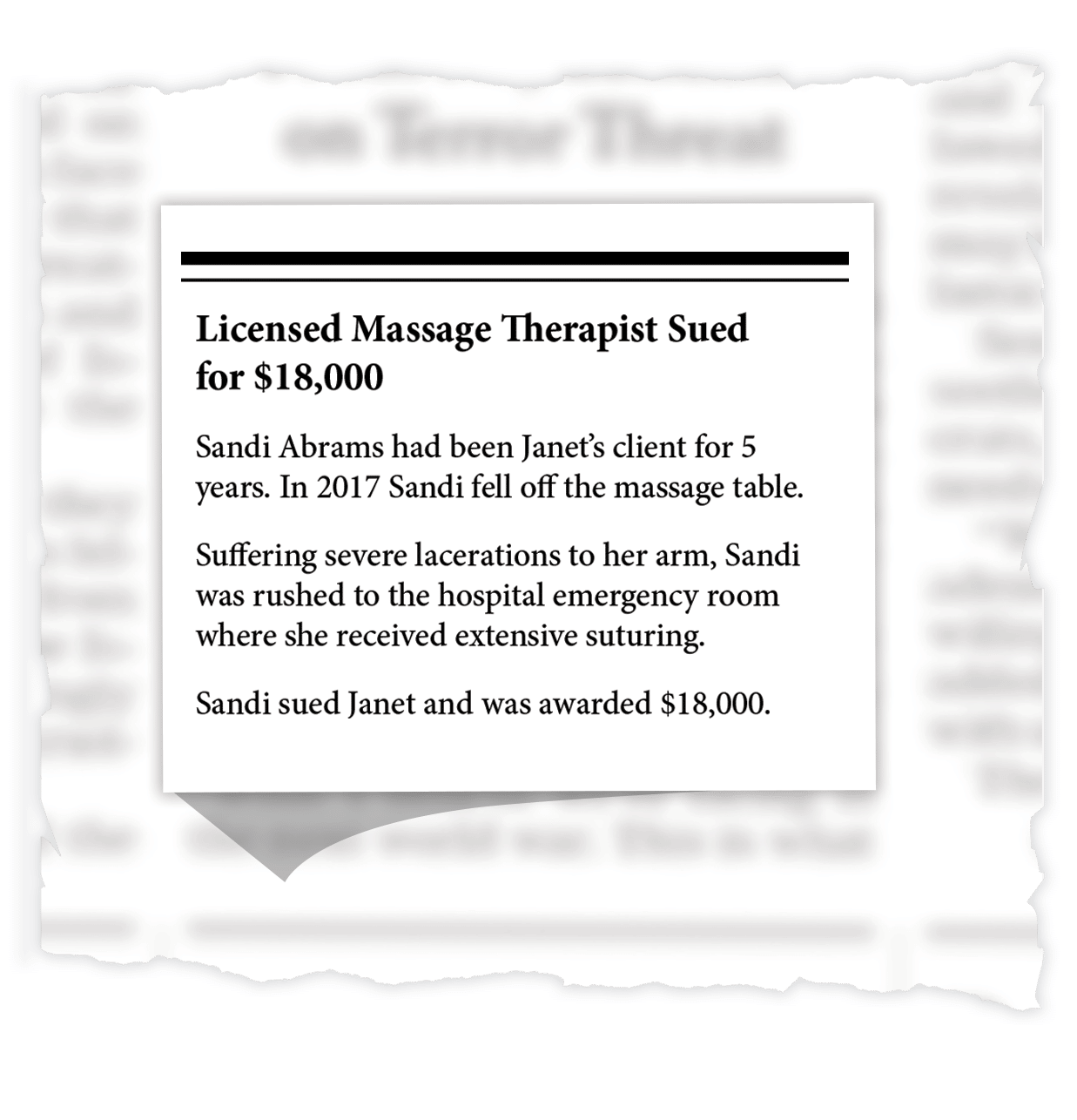 Massage Therapist Sued for $18,000